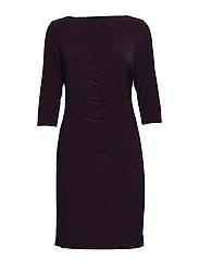 Print Stretch Jersey Dress - LH NAVY/VIBRANT G