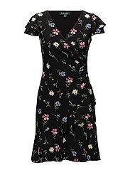 Floral-Print Jersey Dress - BLK/MAUVE/MULTI