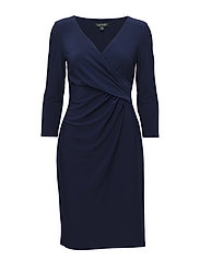Surplice Jersey Dress - DUTCH BLUE