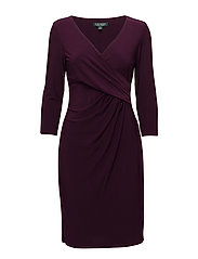 Surplice Jersey Dress - PASSION PLUM