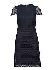 Geometric Lace Dress - LIGHTHOUSE NAVY