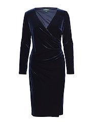 Velvet Surplice Dress - NIGHTFALL