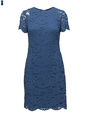 Floral Lace Dress - PORTER BLUE