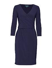 Surplice Jersey Dress - LIGHTHOUSE NAVY