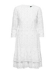 Lace Dress - LAUREN WHITE/BLAC