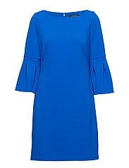 Bell-Cuff Jersey Dress - PORTUGUESE BLUE