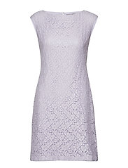 Lace Cap-Sleeve Dress - FRESH ORCHID