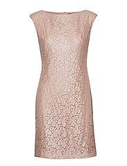 Lace Cap-Sleeve Dress - ROSE