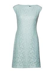 Lace Cap-Sleeve Dress - SEAGLASS