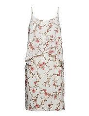 Floral Georgette Dress - COL CREAM/PEACH/M