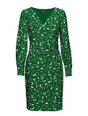 Floral-Print Jersey Dress - CAMBRDGE GRN/RCH