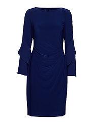 Jersey Ruffle-Sleeve Dress - RICH SAPPHIRE