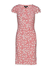 Floral Ruched Jersey Dress - NECTAR/COLONIAL C