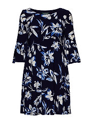 Floral Bell-Sleeve Dress - LH NAVY/BLUE/MULT