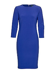 BONDED MJ-DRESS W/ TRIM - DEEP BLUE