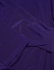 Lauren Ralph Lauren - Wrap-Front Jersey Dress - stramme kjoler - deep ultraviolet - 4