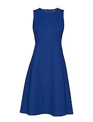 BASKETWEAVE PONTE-DRESS - FRENCH BLUE