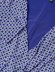 Lauren Ralph Lauren - Print Jersey Long-Sleeve Dress - wrap dresses - parisian blue/col - 2