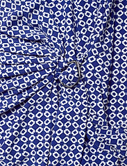 Lauren Ralph Lauren - Print Jersey Long-Sleeve Dress - wrap dresses - parisian blue/col - 3