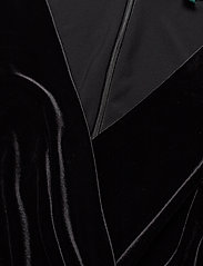 Lauren Ralph Lauren - Velvet-Bodice Jersey Jumpsuit - kombinezony - black - 2