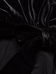 Lauren Ralph Lauren - Velvet-Bodice Jersey Jumpsuit - kombinezony - black - 3