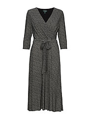 PRINTED MATTE JRSY-DRESS - SPARKLING CHAMPAG