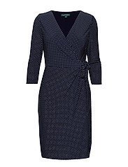 Polka-Dot Jersey Dress - LIGHTHOUSE NAVY/C