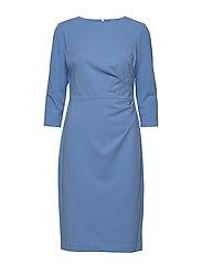 LUXE TECH CREPE-DRESS - EOS BLUE
