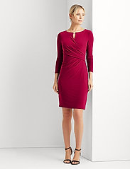 Lauren Ralph Lauren - Wrap-Style Jersey Dress - midi kjoler - modern dahlia - 0