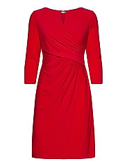 Wrap-Style Jersey Dress - ORIENT RED