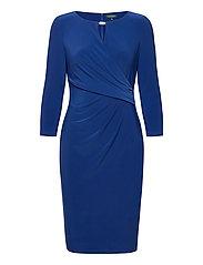 Wrap-Style Jersey Dress - SUMMER SAPPHIRE