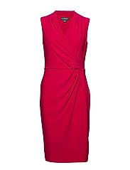Pleated Jersey Dress - BERRY SORBET
