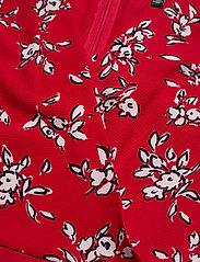 Lauren Ralph Lauren - Floral Crepe Dress - midi kjoler - orient red/lh nav - 3