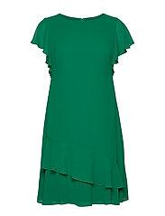 Georgette Boatneck Dress - MALACHITE