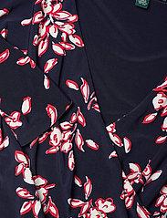 Lauren Ralph Lauren - Floral Jersey Surplice Dress - midi kjoler - lh navy/orient re - 3
