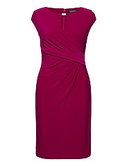 Wrap-Style Jersey Dress - MODERN DAHLIA