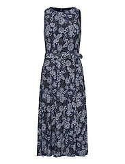 Floral Jersey Sleeveless Dress - LH NAVY/BLUE/COLO