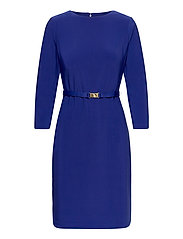 Belted Jersey Dress - FRENCH ULTRAMARIN