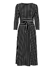 Striped Jersey Dress - BLACK/COLONIAL CR