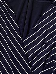 Lauren Ralph Lauren - Striped Elbow-Sleeve Jersey Dress - sommerkjoler - lh navy/colonial - 2