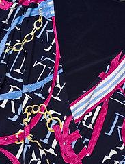 Lauren Ralph Lauren - Print Jersey Surplice Dress - hverdagskjoler - lh navy/aruba pin - 3