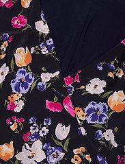 Lauren Ralph Lauren - Floral Jersey Surplice Dress - hverdagskjoler - lighthouse navy/p - 2