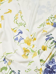 Lauren Ralph Lauren - Floral Jersey Surplice Dress - sommerkjoler - col cream/yellow/ - 2
