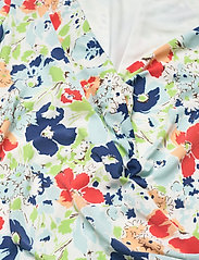 Lauren Ralph Lauren - Floral Pleated Jersey Dress - sommerkjoler - col cream/blue/mu - 2