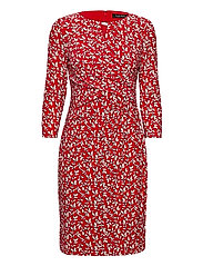 Print Wrap-Style Jersey Dress - LIPSTICK RED/COL