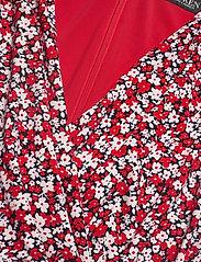 Lauren Ralph Lauren - Floral Pleated Surplice Dress - cocktailkjoler - lighthouse navy/r - 2