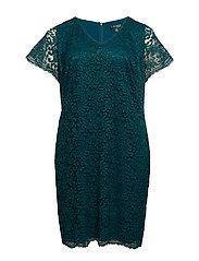 Plus-Size Scalloped Lace Dress - SPRUCE