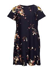 Floral-Print Jersey Dress - LH NAVY/BLUSH/MUL