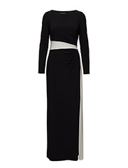Colour-Blocked Jersey Gown - BLACK/LAUREN WHITE