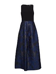 Pleated Sleeveless Dress - DUTCH BLUE/BLACK